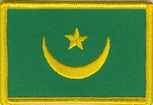 Ricamate Mauritania bandiera bandiera aufbügler Patch 8 x 5 cm