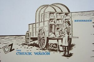 Vtg-Denver-Zephyr-Railroad-Vista-Dome-Chuck-Wagon-Menu-Blank-Die-Cut-1960-70s