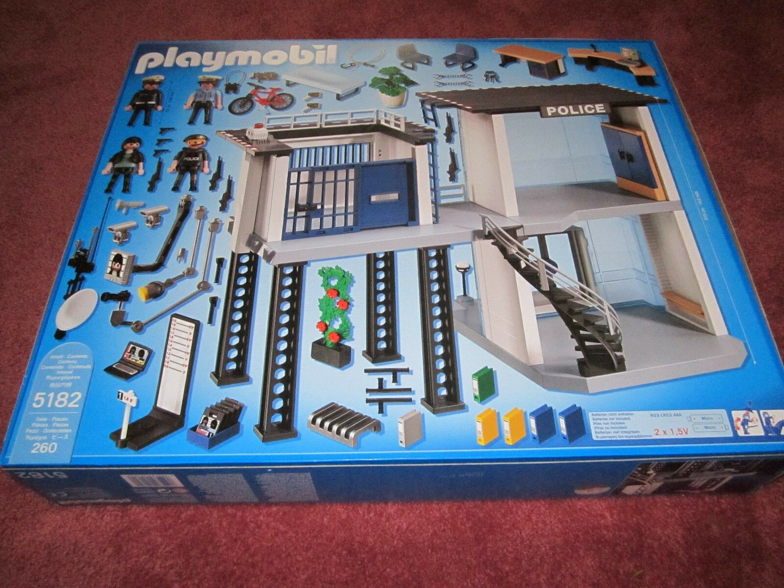 PLAYMOBIL CITY ACTION POLICE STATION WITH ALARM ALARM ALARM SYSTEM 5182 - SEE PHOTOS - NEW 380951
