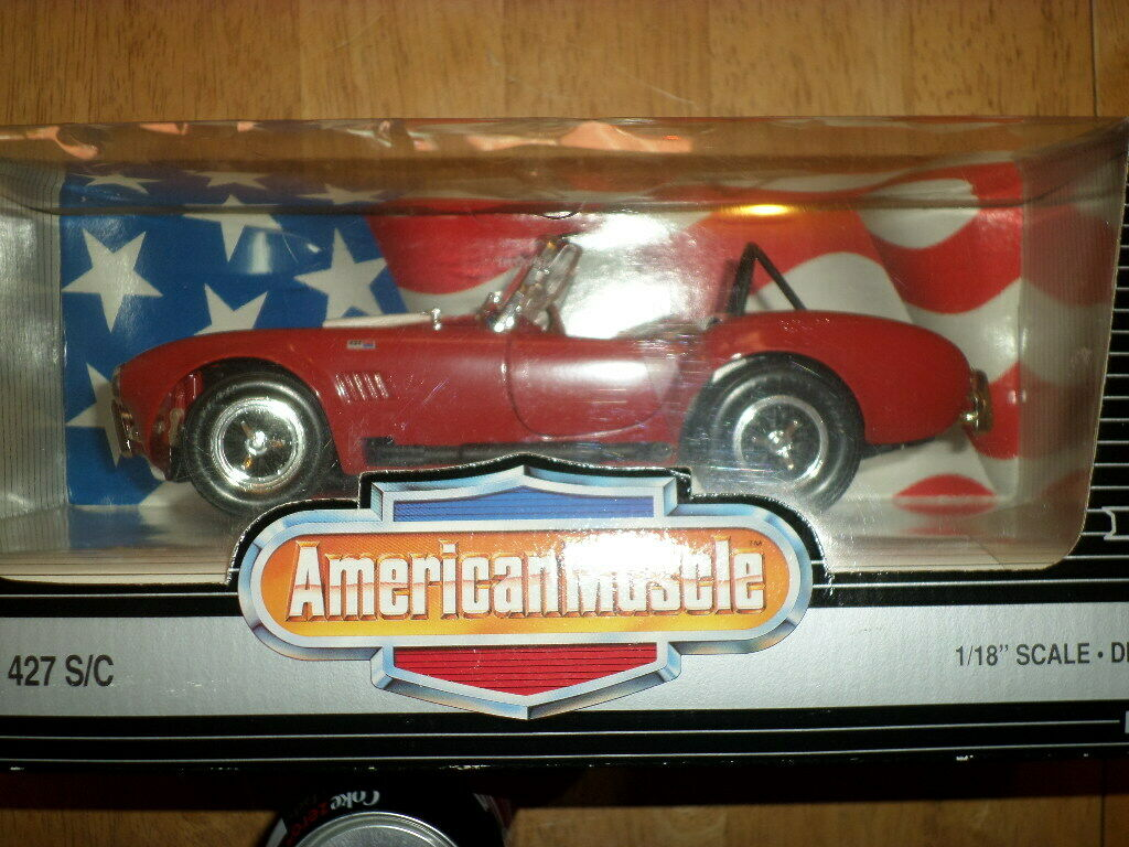 SHELBY COBRA 427 S/C, Die Cast Metal, ERTL COLLECTIBLE Model Car Toy, [1/18]