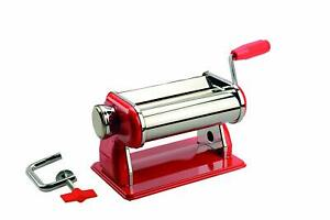 Artemio-Pasta-Machine-for-Modeling-Clay-Red-and-Steel-21-x-14-x-14-5-cm