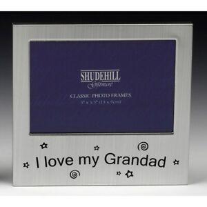 Satin-Silver-Metal-Freestanding-I-Love-Grandad-my-Photo-Frame-Gift-14x13-5cm