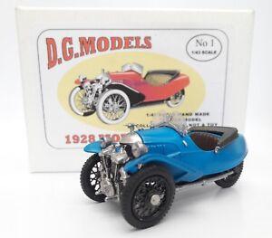 1928-1-43-scale-blue-Morgan-Aero-Car-pewter-metal-model-made-entirely-in-England