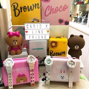 e0fb9740c4bd CASIO X LINE Friends Limited Brown Cony Choco Fashion G-Shock Baby-G ...