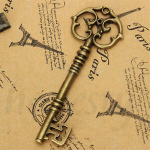 2X Vintage Punk Style Old Look Skeleton Key Lot Bow For Jewelry Making DIY Decor