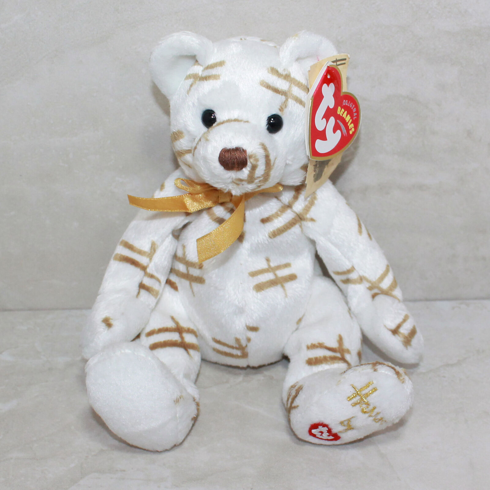 Ty Beanie Baby Starlight - MWMT (Bear White Harrods UK Country Exclusive)