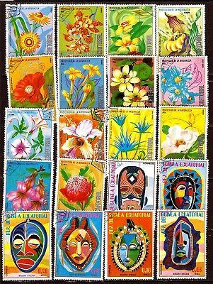 100% Wahr Republik Von Guinea Die Blumen Und Die Masken H299 Die Nieren NäHren Und Rheuma Lindern