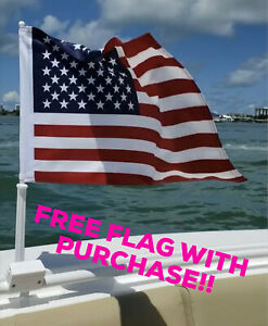 Boat-Flag-Mount-Car-Flag-Rail-Holder-2-Pack-034-Nauti-Mount-034-FREE-FLAG-INCLUDED