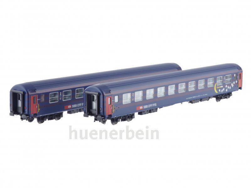Ls Models 47331 2x SBB CFF FMS 2.kl liegewage UIC-x azul púrpura luna ep4-5 nuevo + embalaje original