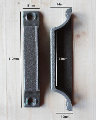 Other Dependable Hierro Fundido Cerradura Puerta Cierre 110mm ~ Hecho En Gran Bretaña Victoriano