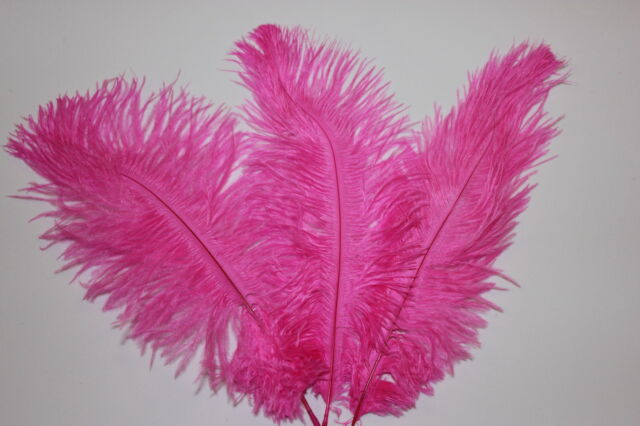 """OSTRICH FEATHERS 1st GRADE 5 FLY FISHING 5 PURPLE SOFT FLOSS 9-10/"""" 22-25 CM"""
