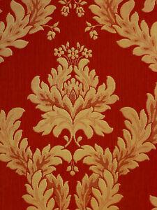 Ornamenta Noble Papier Peint Baroque Ornements Vinyle 95115 Rouge