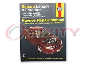 haynes subaru legacy 00 09 forester 00 08 repair manual. Black Bedroom Furniture Sets. Home Design Ideas