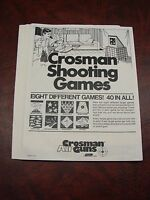 40 Vintage Crosman shooting Games Bb Gun Targets - Complete Set