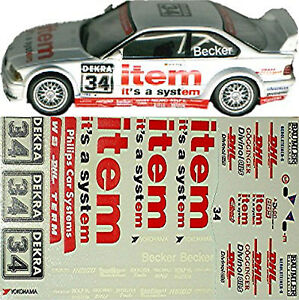 BMW M3 GTR DTM #34 item Becker 1:18 Decal Abziehbild