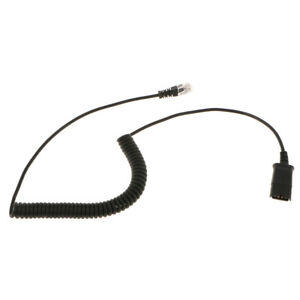 Call Center Telephone Headset Adapter Cables Rj9 Male To Plantronics Female Ebay