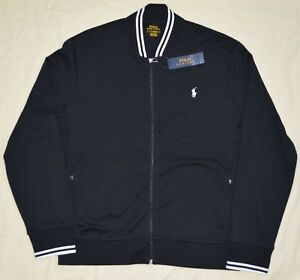New-Medium-M-POLO-RALPH-LAUREN-Mens-varsity-baseball-bomber-jacket-black-coat