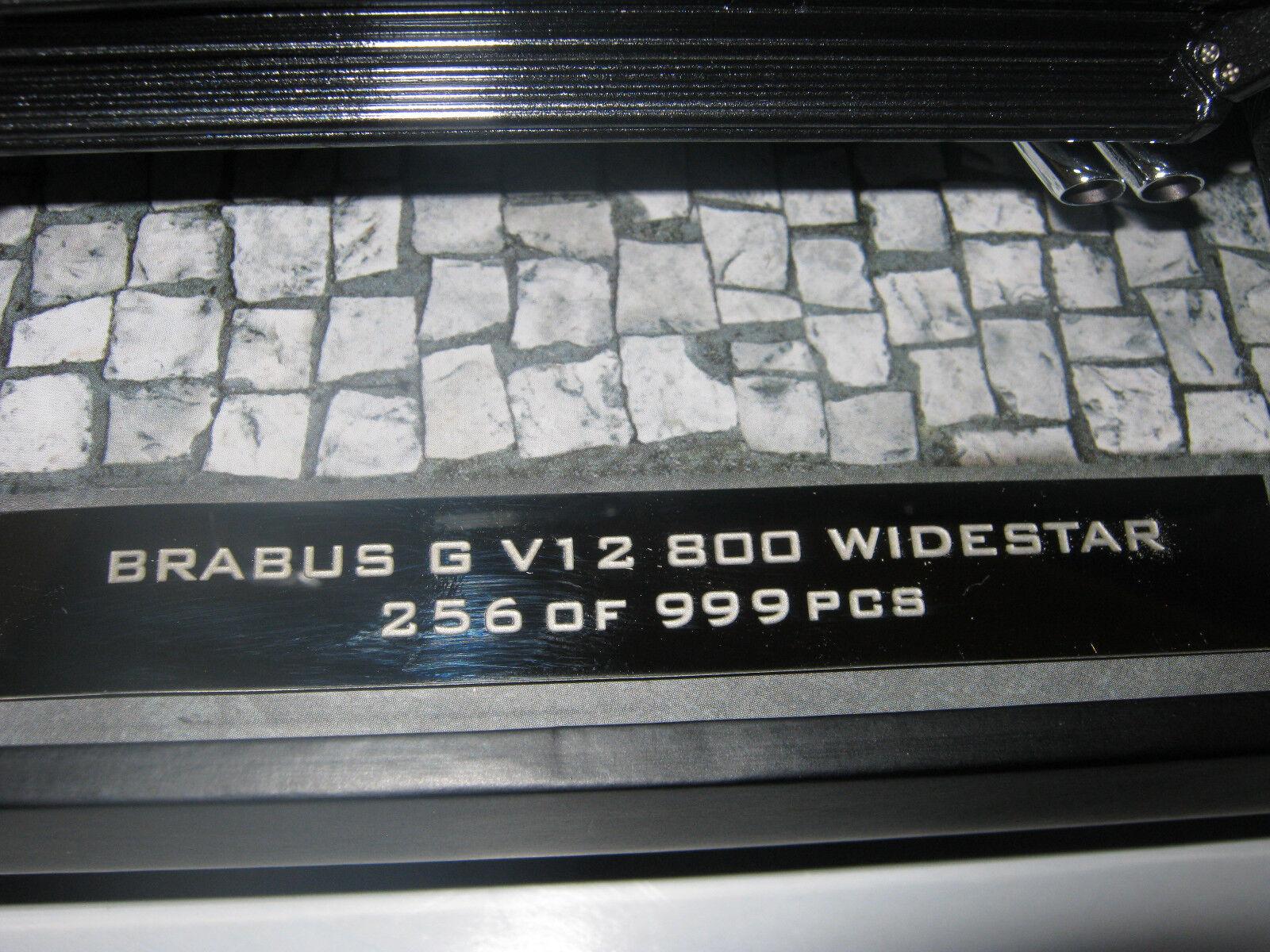1:18 Brabus g v12 800 800 800 widestar Gris Minichamps 107032300 OVP nuevo 32be19