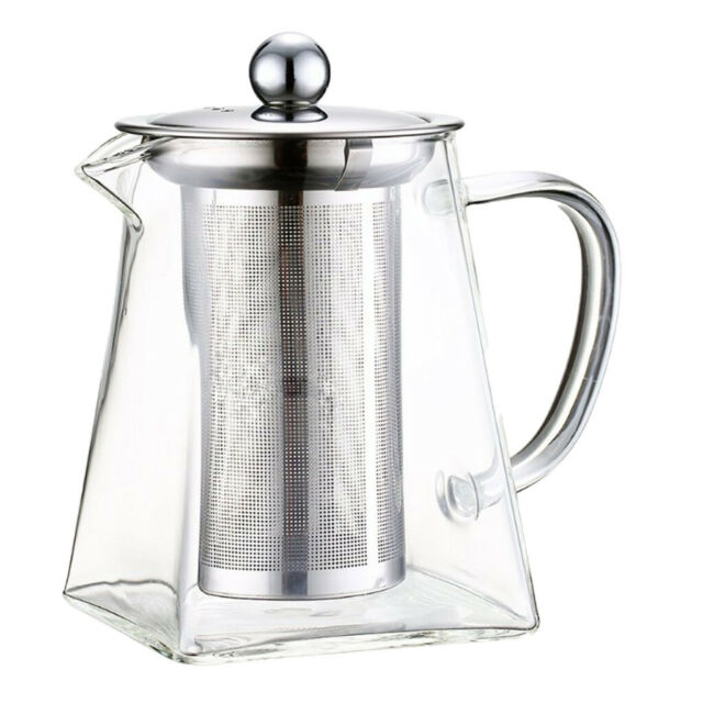 Glass Teapot Kettle with Infuser Loose Leaf Tea Pot 9//15//22oz Stovetop Safe