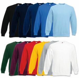 Details zu Fruit of the Loom Sweatshirt Set In Sweat Herren Pullover Gr. S M L XL XXL 3XL