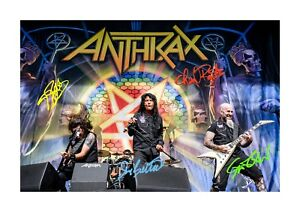 Anthrax-A4-signed-photograph-picture-poster-Choice-of-frame