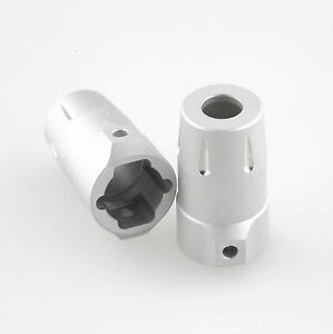GDS Racing Alloy Rear Hubs//Axle Lock-Outs Silver for Axial SCX10 II