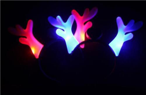 8 pcs Led flashing Christmas reindeer antler headbands//moose antlers headband