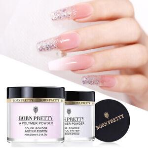 BORN-PRETTY-30ml-Pink-White-Clear-Acrylic-Powder-Liquid-Nail-Art-Tips-Extension