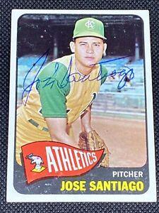 Jose Santiago Athletics Signed Auto Autographed 1965 Topps Card #557 ~ COA