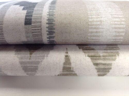 "Berlin IKat Stripe Soft Velvet Silver Grey 140cm//54/"" Curtain//Upholstery Fabric"