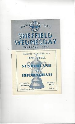 1956 FA Cup Poster of Programme Birmingham Man City