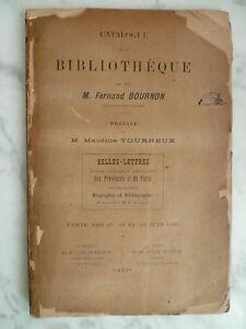 Catalogo-De-Venta-Biblioteca-Fernand-Bournon-1910