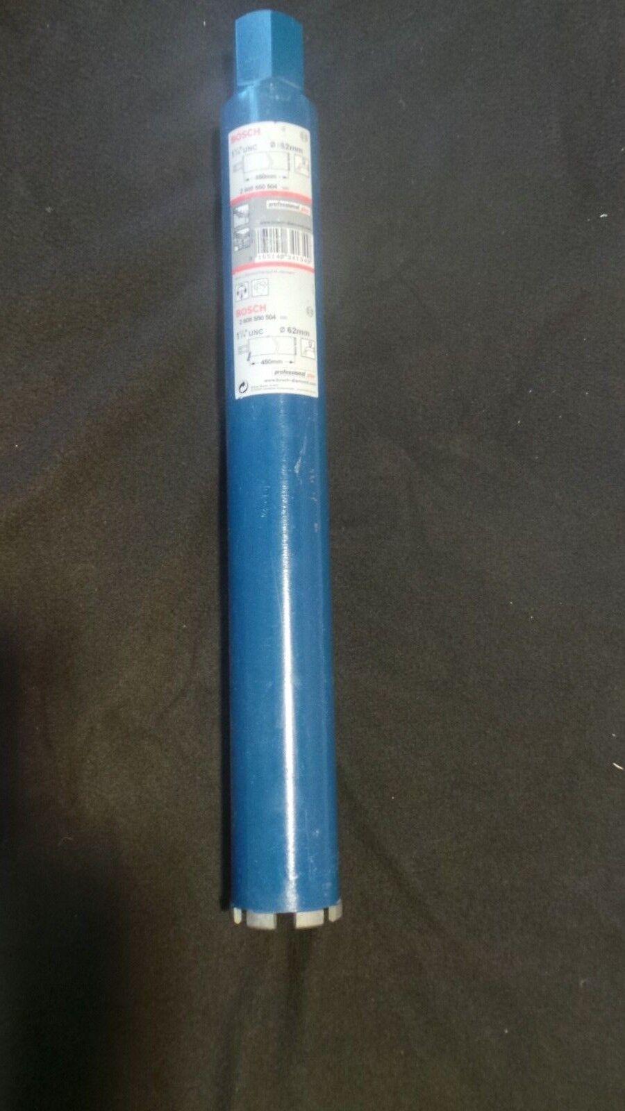 Bosch Diamantnassbohrkrone 1 1 4  UNC  Ø 62 mm, 450 mm Diamant Dosensenker