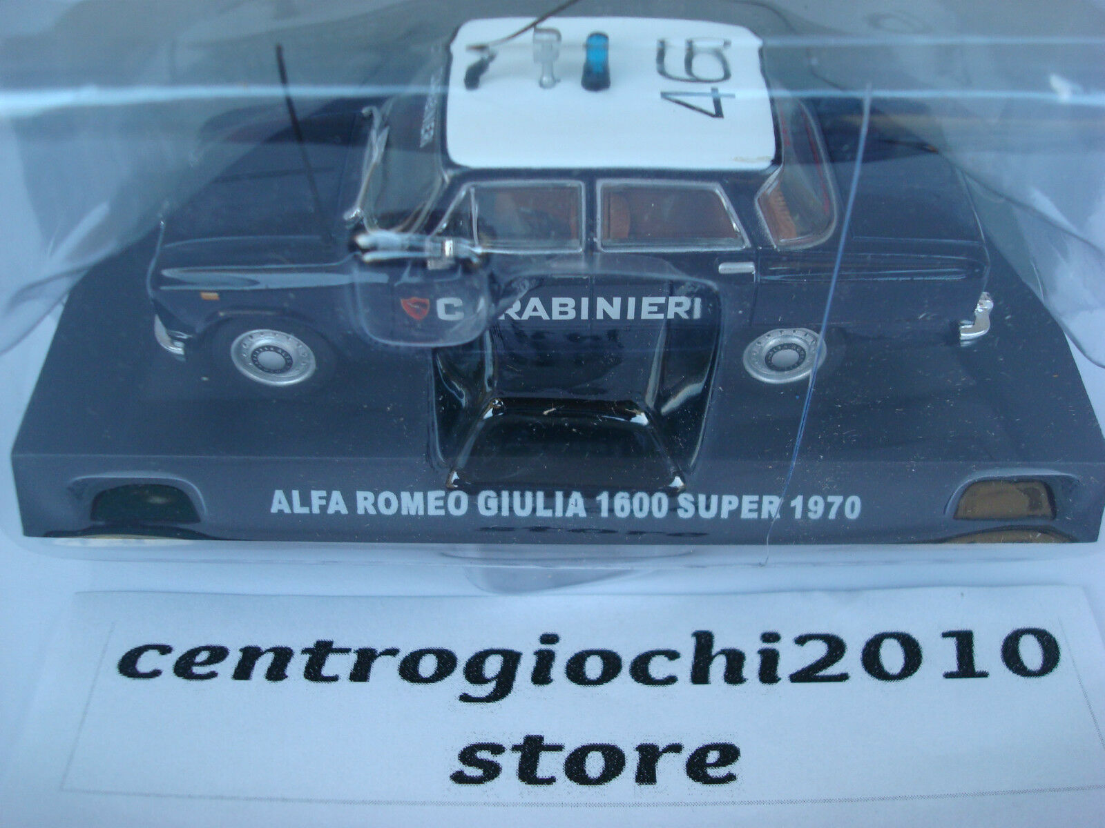 ALFA ROMEO GIULIA 1600 SUPER CARABINIERI 1970 DIE-CAST 1 43 SCALA