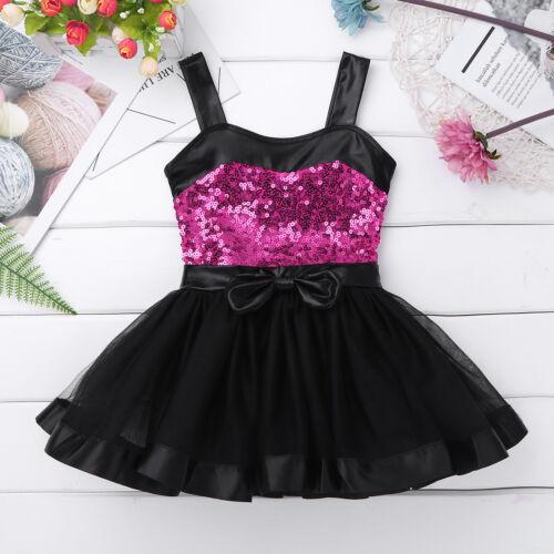 Girl Ballet Dance Dress Kid Baby Gymnastics Leotard Tutu Skirt Dancewear Costume