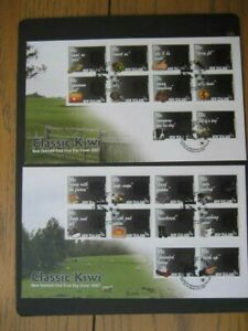 NEW-ZEALAND-FDC-2007-CLASSIC-KIWI-2-Covers-SG-2962-81