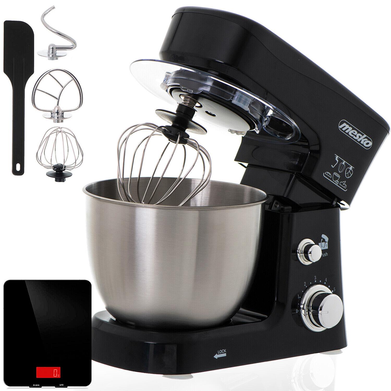 Robot cocina multifuncion batidora amasadora reposteria 3,5L 1200W Mesko MS 4217