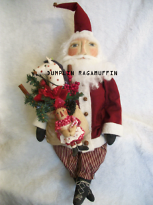 PATTERN Primitive doll Christmas Santa,holiday #140 Dumplinragamuffin