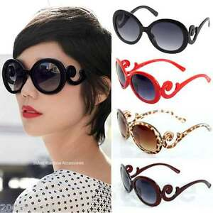 Retro-Vintage-Swirl-Arms-Style-Inspired-Round-High-Oversize-Sunglasses-Baroque