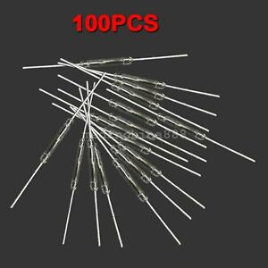 Details about  /TOP 100X Normal Open Magnetic Reed Switch Glass N//O Low Voltage Current 2*14 mm