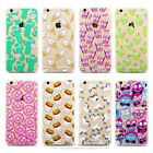 Cute Pattern Soft Silicone TPU Clear Hard Back Case Cover For iPhone 5 6 6s Plus