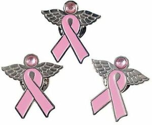 12 Angel Pins With Wings Pink Ribbon Breast Cancer Awareness Cure
