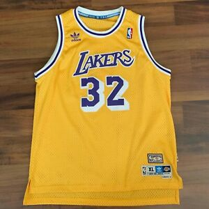 Details about Adidas NBA Magic Johnson Los Angeles Lakers Swingman Jersey Sz Youth XL 18-20