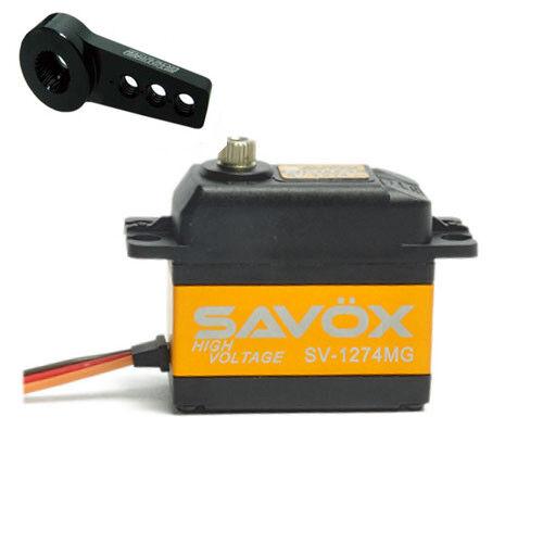 Savox SV1274MG HIGH VOLTAGE CORELESS DIGITAL SERVO W FREE ALUMINUM HORN BLK