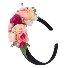 Girl's Boho Large Flower Fruit Headband Wedding Party Floral Garland Hairband