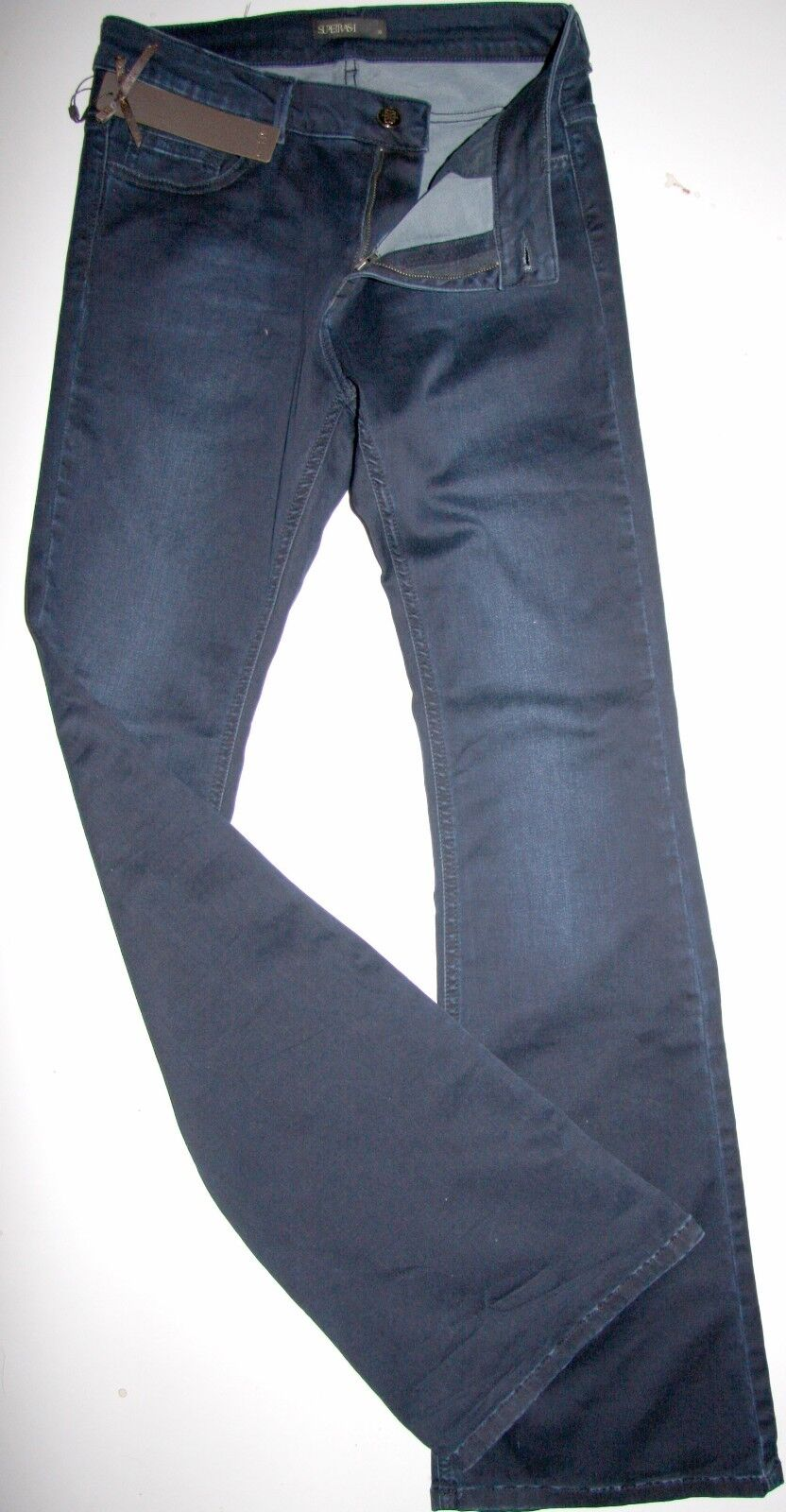 Denim Pants Jeans Hose  Supertrash  Pinny  bluee Used  weites Bein  Size 32 Neu