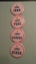 "BEATLES: REPRODUCTION 1960S ""LOVE""BADGES PINBACK BUTTON"