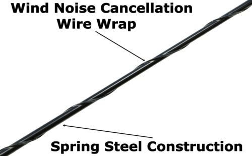 """21/"""" Black Spring Stainless AM//FM Antenna Mast Fits 2017-2019 Ford F-250"""