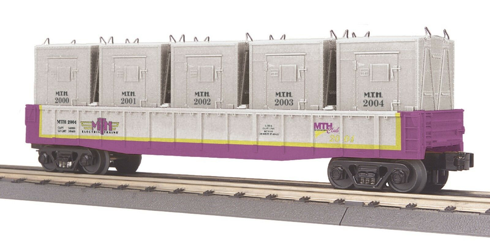 O Gauge MTHRRC-2004 Gondola Car w LCL Containers 30-7267 -- NEW