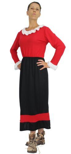 Ladies Black /& Red Olive Oyle Costume Damsel in Distress Fancy Dress